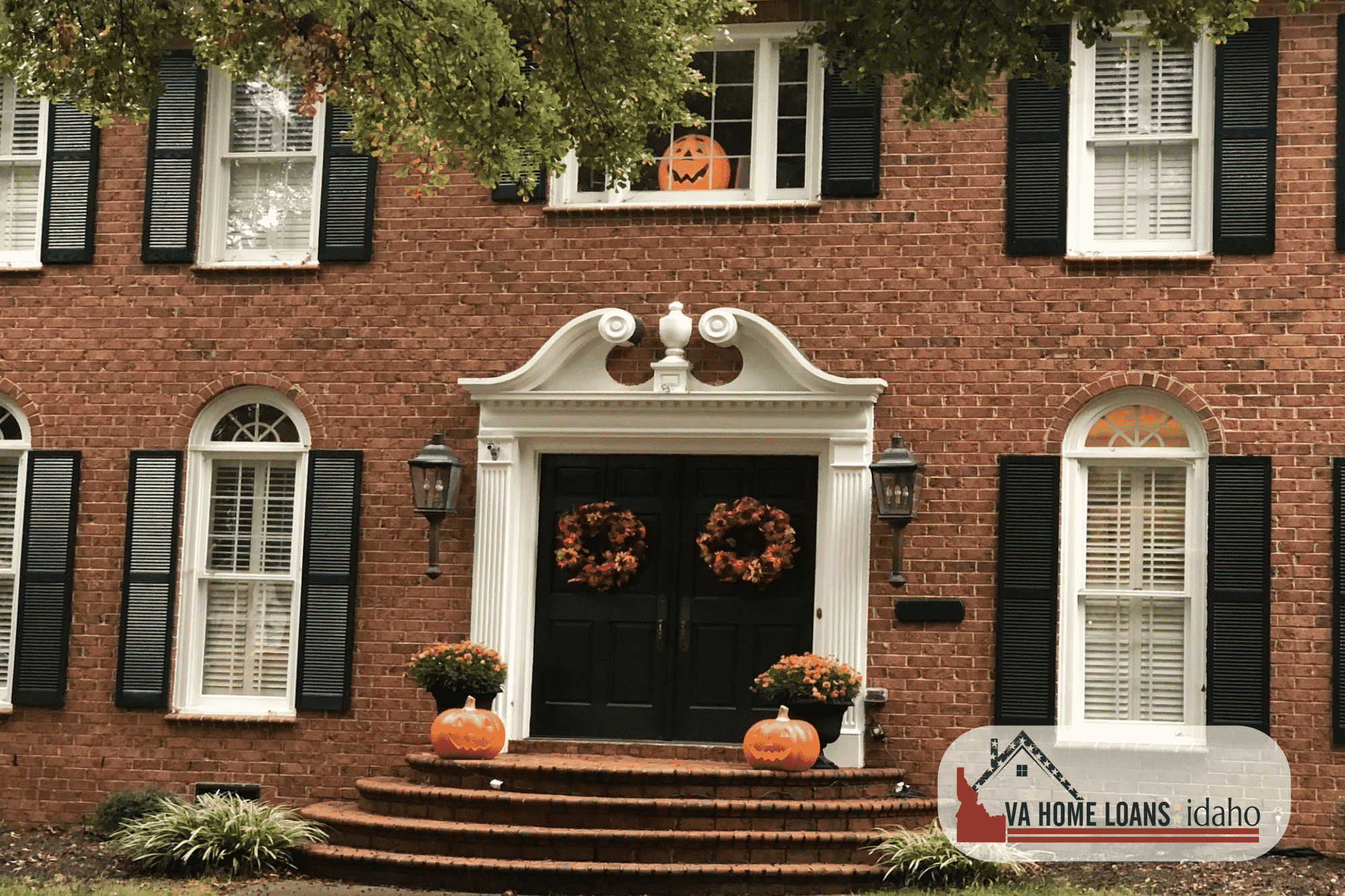 A fall decorated home, bought with a VA Home Loan